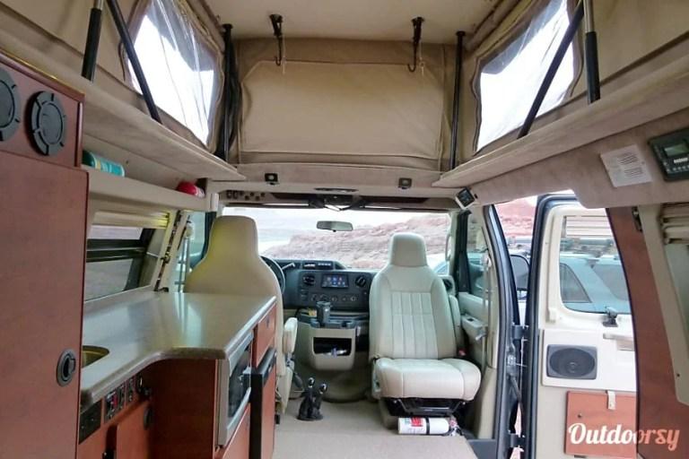 2014 Sportsmobile EB350 4X4 Campervan RV Rental Denver Interior