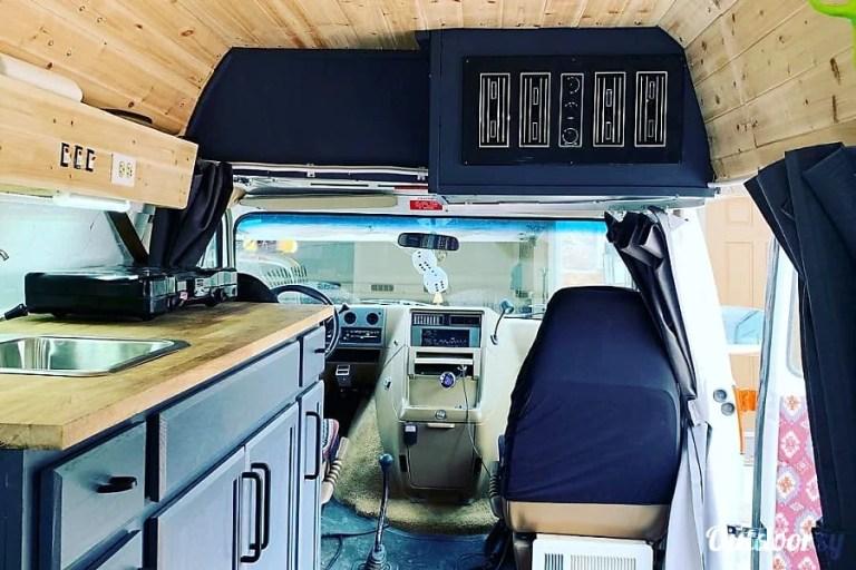 The Vanbulance 4x4 CO Dream Van RV Rental Denver Interior