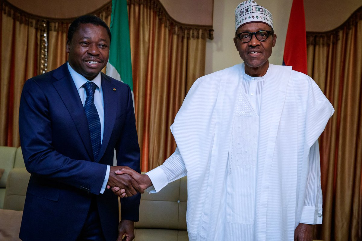 Image result for Gnassingbe visits Buhari, says ECOWAS to discuss ways of ending insecurity in Nigeria