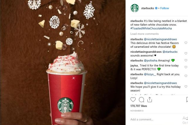 starbucks - Social Media Marketing: Three Ideas to Promote Your Brand at Christmas