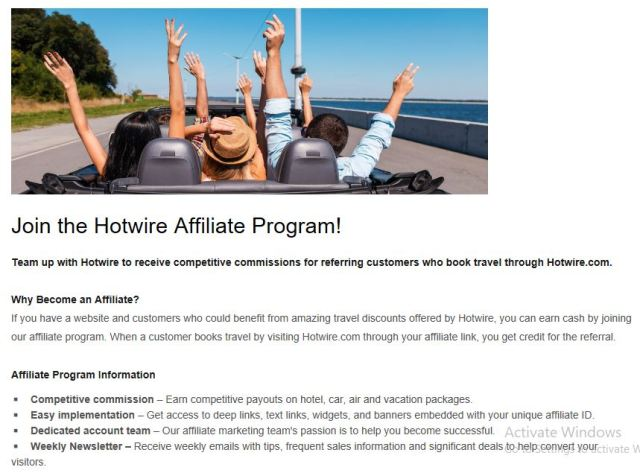 hotwire - Top 5 Travel Affiliate Programs For Travel Bloggers in 2019