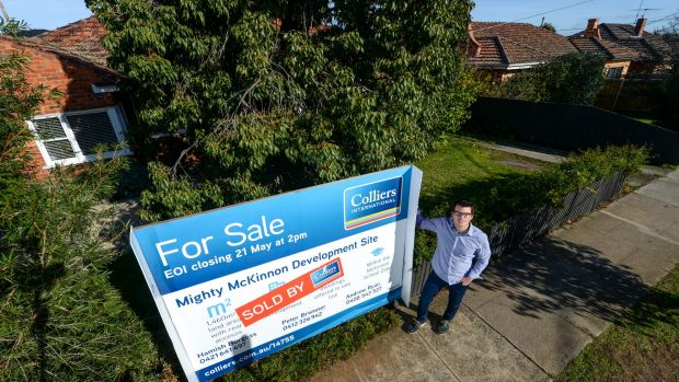 Development is rampant in McKinnon. Ben Ryde orchestrated the sale of his home and those of three of his neighbours to a developer.