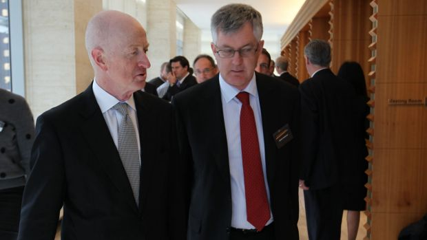 RBA Governor Glenn Stevens and for Mr Parkinson at the National Reform Summit in Sydney on Wednesday.