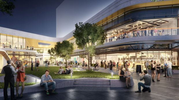 Artist impression of The Glen shopping centre in Melbourne's south-east.