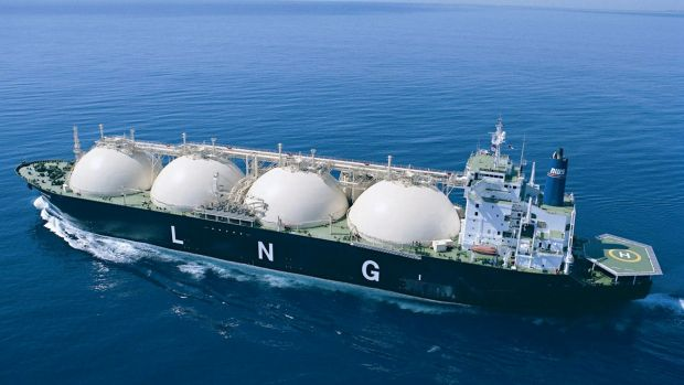 Australian gas being shipped abroad
