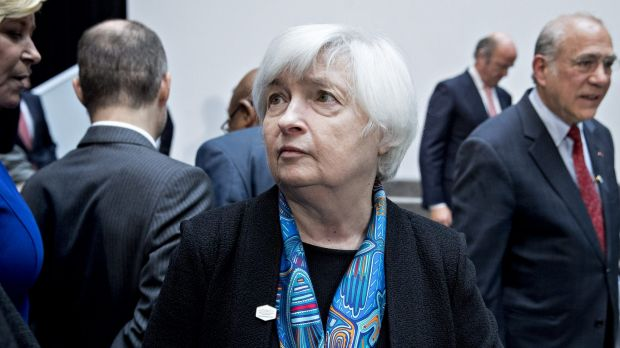 """Janet Yellen, chairwoman of the US Federal Reserve, which is in """"another galaxy"""", to borrow an expression in vogue this week."""