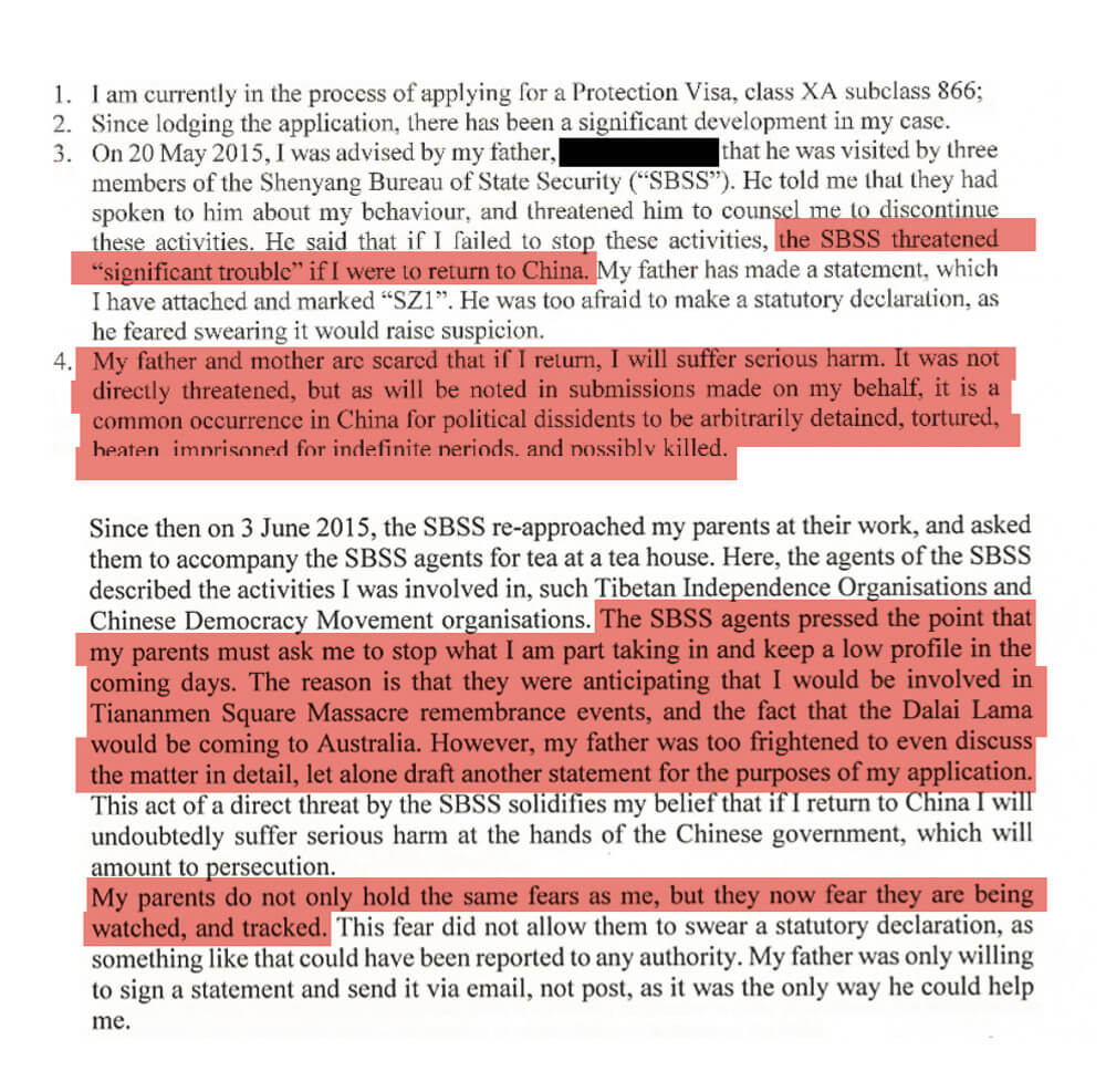 As Chang later detailed in a sworn statement