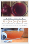 Instructions on how to make your own bone broth