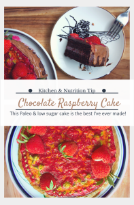 Paleo Chocolate Raspberry Birthday Cake