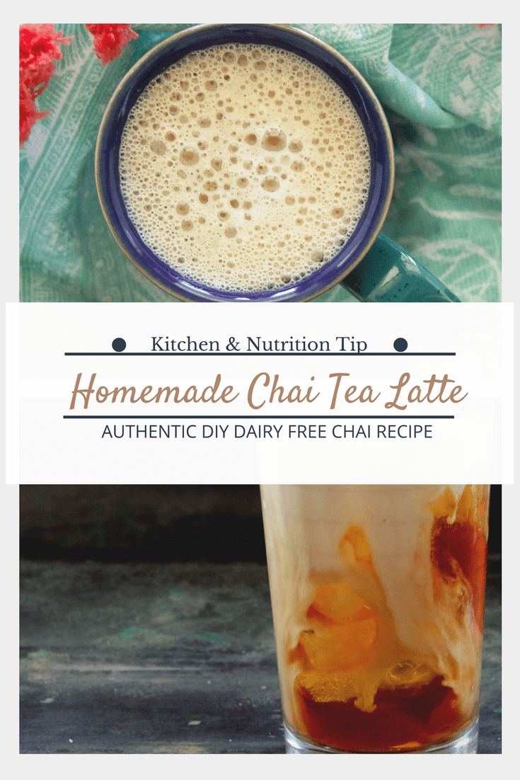 Homemade Chai Tea latte + the health benefits