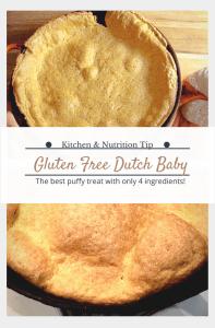 Gluten free, dairy free dutch baby