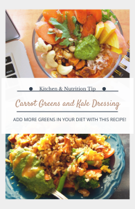 Carrot Greens and Kale Dressing