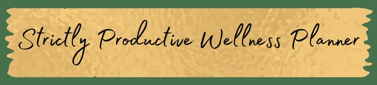 productive wellness planner