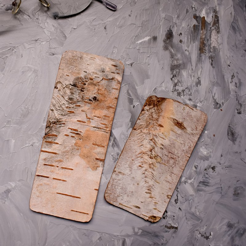birch bark bookmark