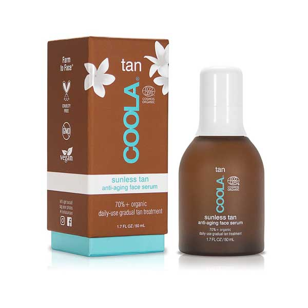 Organic Sunless Tan Anti-Aging Face Serum