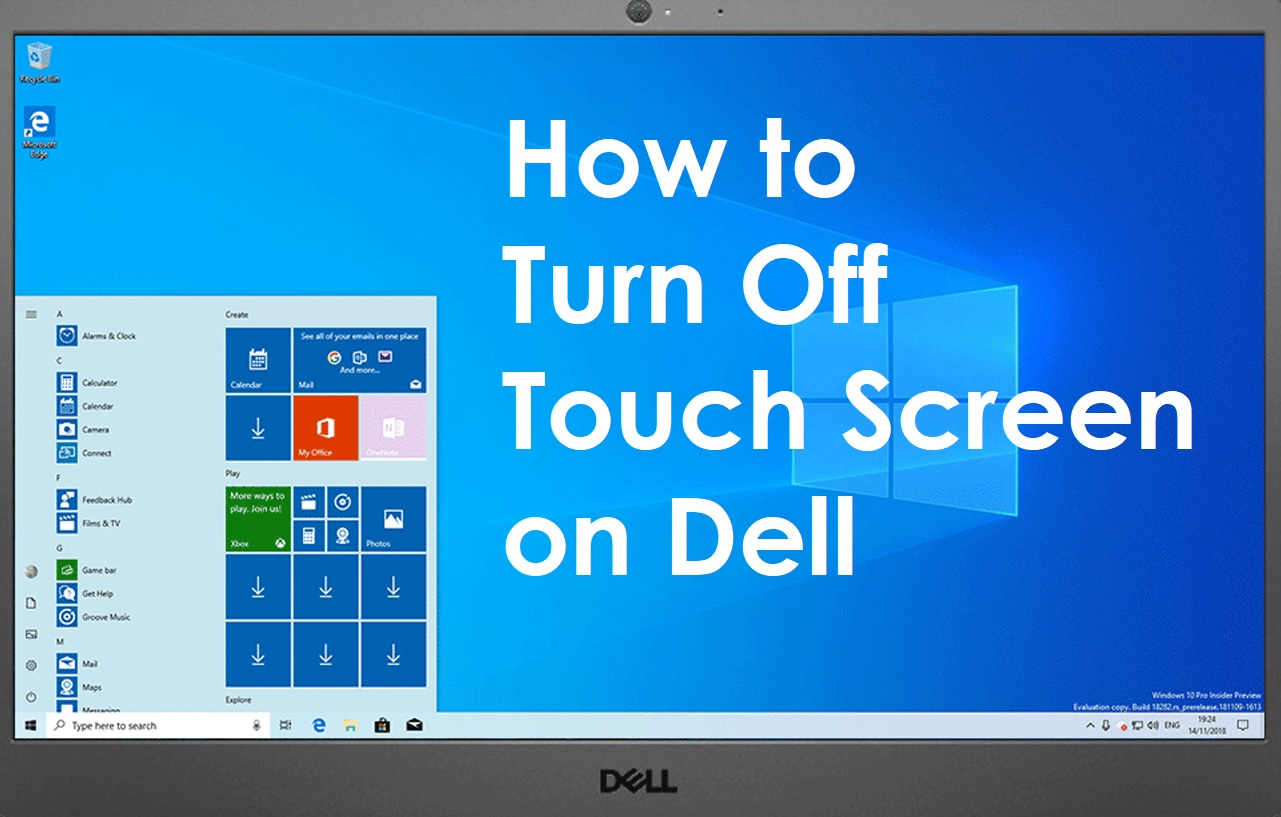 How to Turn Off Touch Screen on Dell