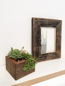 Reclaimed Wood Succulent Planter Box