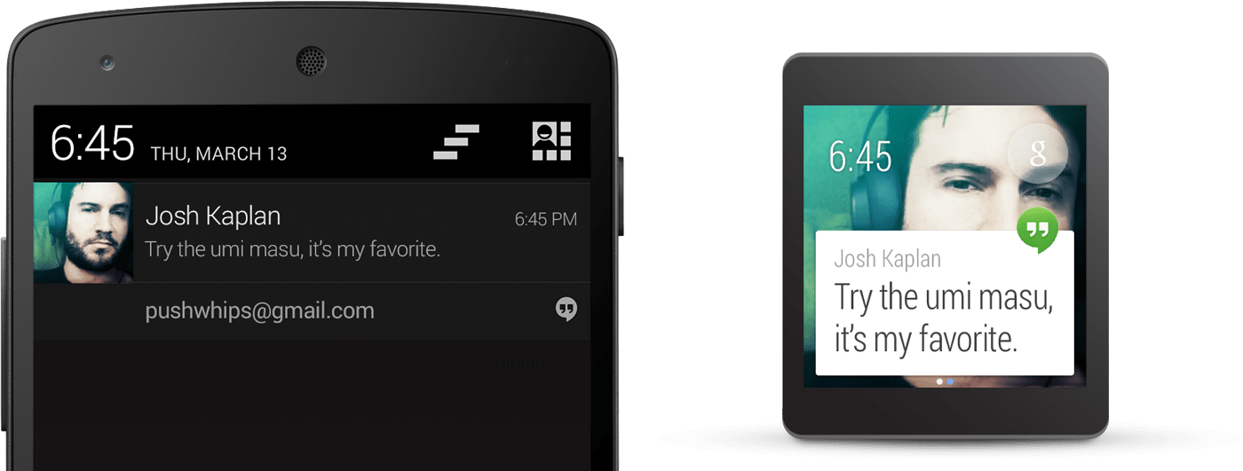 Android Wear Notifiactions