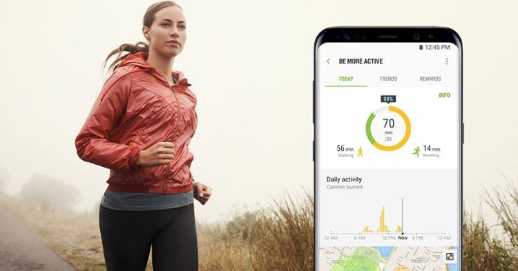 Samsung Health running