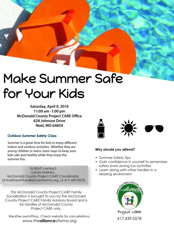 Outdoor Safety Tips Event for McDonald County Project