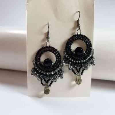 Valhalla Black Diamond Earrings Pattern PDF