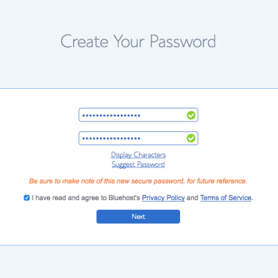 7 Password Step 2
