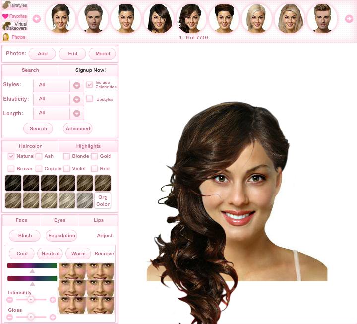 Wedding Hair Try Hairstyles Online TheAlternativeBride Com