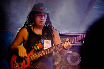 """Engkanto's bassist Mark Anthony """"TJ"""" Cesario during their set at the Nalu Music Fest in Baler, Aurora. Photo by: Kimmy Baraoidan"""
