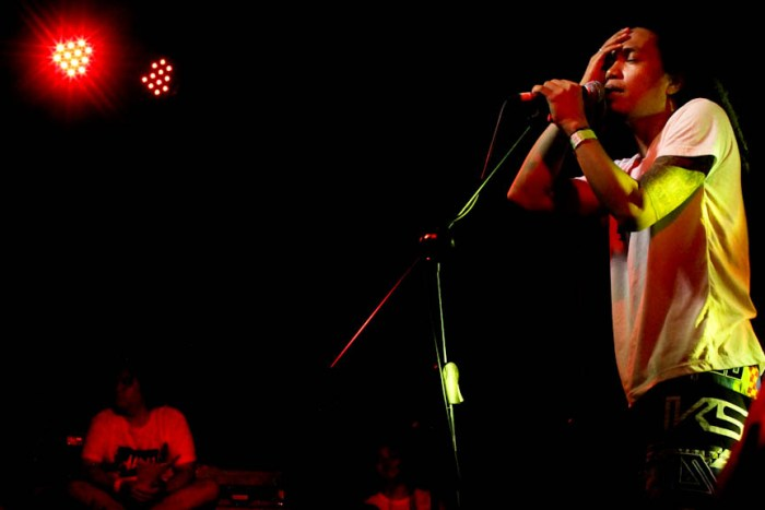 Engkanto vocalist Ace Beato during their set at the Nalu Music Fest in Baler, Aurora. Photo by: Chris Quintana