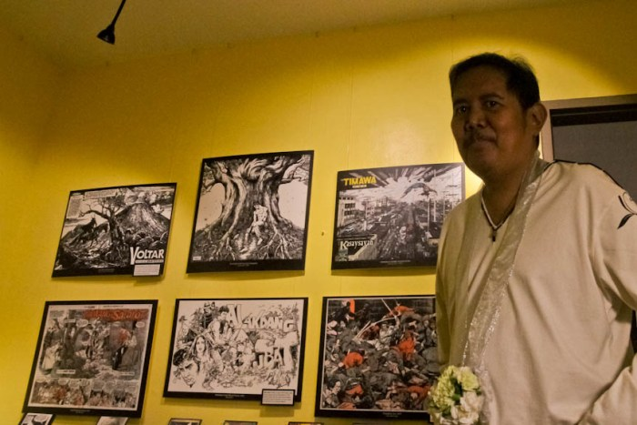 Comic Book Artist And Writer Gerry Alanguilan During The Opening Of Komikero Komiks Museum In