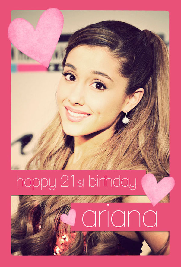 Ariana Grande Birthday Cards American Music Awards