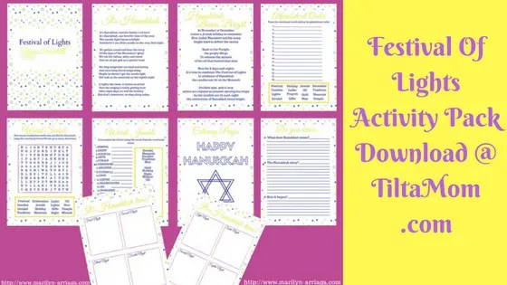 Free Hanukkah Download and Print Activity Pack