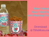 Robot Valentine's Day Bottle Labels and Treat Boxes 24