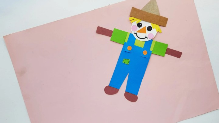 Fun Fall Scarecrow Papercraft Activity