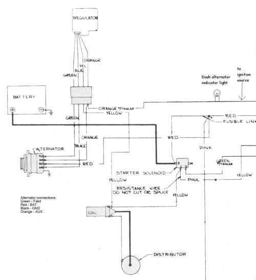 small resolution of 1972 chevy truck charging system wiring diagram