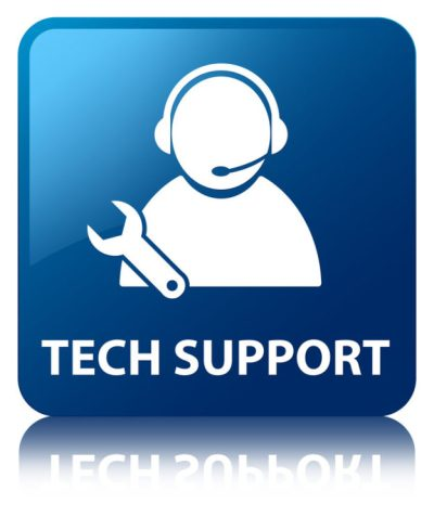 A graphic that says tech support