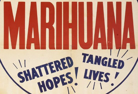 Detail from a poster for Reefer Madness