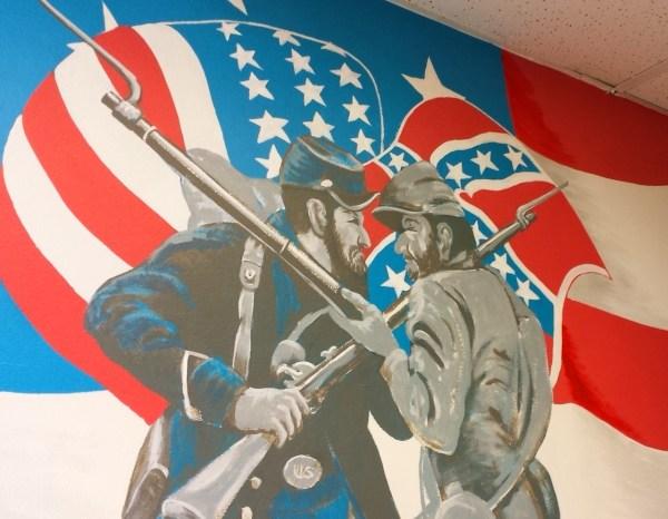 Va Hospital Repaints Confederate Flag In War History Mural