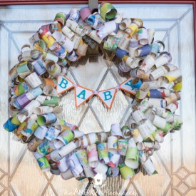 DIY Children's Book Page Wreath