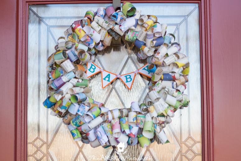 DIY Children's Book Page Wreath