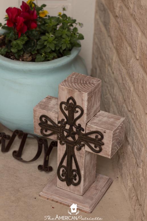 DIY Outdoor Wooden Cross Decor  The American Patriette