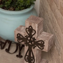Front Porch Table And Chairs Office Chair Tilt Diy Outdoor Wooden Cross Decor - The American Patriette