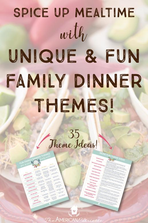 Different Food Ideas Dinner