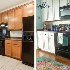 Can I Paint My Kitchen Cabinets Price Of Update On Our Diy White Painted 2 Years Later Know Huge Transformation So Much Brighter More Colorful And Welcoming Is Truly A Happy Place Side Note When We