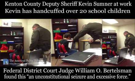 Deputy Sheriff Kevin Sumner Handcuffs Small Children