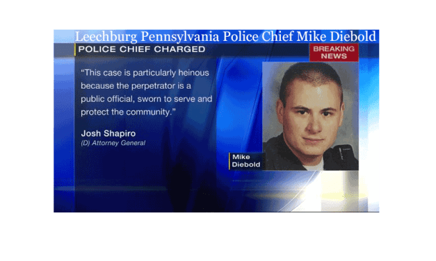 Police Chief Mike Diebold Charged as Online Child Predator