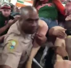 Miami Detective Douglas Ross just before he punches this woman in the face