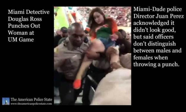 Miami Detective Douglas Ross Punches Out Woman at UM Game