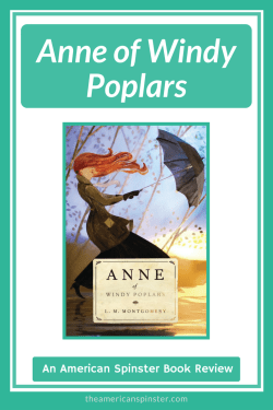 The American Spinster's review of Anne of Windy Poplars