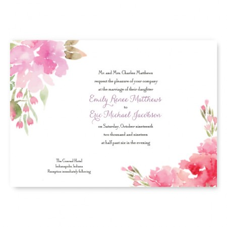Fl Affair Wedding Invitations
